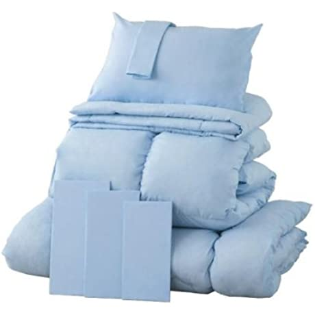 New 20 Color Feather Comforter 8 Set Bed Queen Powder Blue