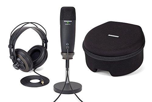(Samson C01U PRO Titanium PACK Digital Recording and Podcasting Pack with SR850 Studio Monitoring Headphones (Black))