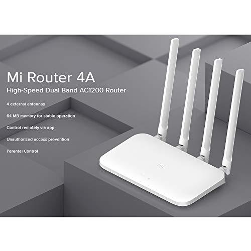 Xiaomi Mi Router 4A. router inalámbrico Doble banda (2,4 GHz / 5 GHz) Ethernet rápido - Blanco