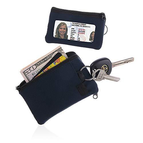 IKEPOD Lightweight Sports Surfshort Wallet - ID window, keychain, RFID Holder