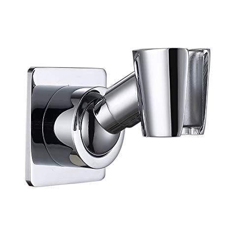 - Adjustable Handheld Shower Head Holder Bracket,Adhesive No-Damage Hanging Strips.Solid Wall Mount Brass (Polished Chrome)