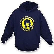 TshirtGrill Keith Richards for President Hooded Sweatshirt, Color Navy