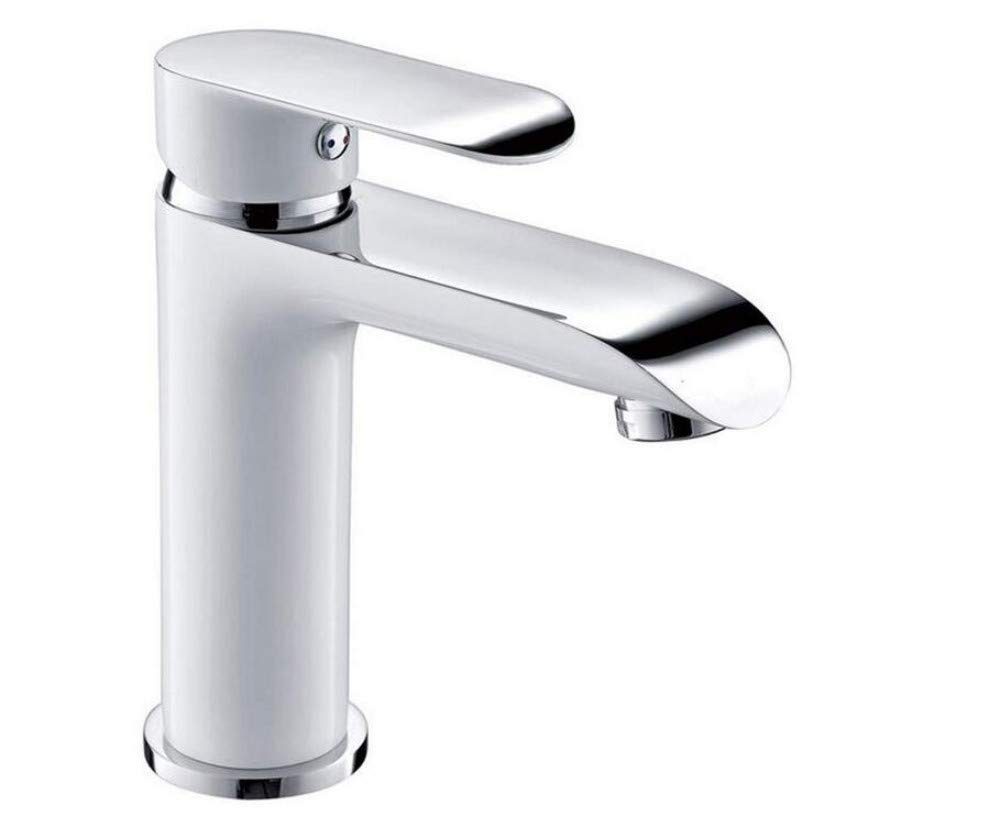 Basin Taps Swivel Spout Faucet Faucet Brass Chrome Vessel Hot and Cold Water Basin Taps White