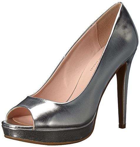 Metallic Peep Toe (Chinese Laundry Women's Holliston Pump, Silver/Metallic, 9 M US)