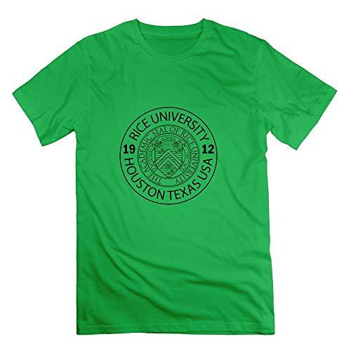 Men's Rice University EST. 1912 Houston Texas United States Short Sleeve T Shirt ForestGreen -