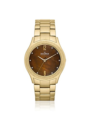 Skagen Three Hand Stainless Steel Watch- Gold Tone Skw2108 (Links Ladies Skagen Classic)