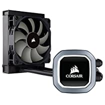 Corsair Hydro H60 Sistema di Raffreddamento a Liquido per CPU, Ventola PWM Singola, Bianca LED, All-in-One Liquid CPU Cooler, Radiatore da 120 mm, Nero