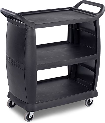Carlisle CC203603 Bus Cart 36-1/4-Inch x 18-Inch, Polypropylene, Black by Carlisle