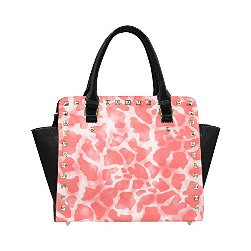 InterestPrint Seamless Allover Animal Skin Giraffe Skin Print Bag Tote Purse Messenger Bags for Women Ladies Girls
