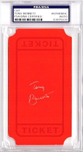 Framed Ticket Holder - Tony Bennett Signed - Autographed 3x5 inch Index Card - Ticket - Legendary Singer - PSA/DNA Authenticity (COA) - PSA Slabbed Holder