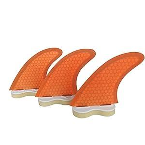 Well-Being-Matters 41YAAEI5%2BxL._SS300_ Topways Fiberglass Reinforced + Honeycomb Surfboard Fins (3), Tri/Thruster Fins Set FCS G5 G7 Style Future Fins