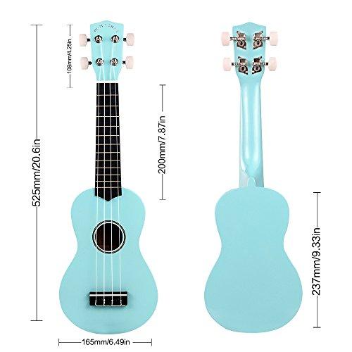 POMAIKAI Soprano Ukulele 21 Inch with Gig Bag for kids Students and Beginners (Light Blue) - Image 2