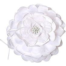 Sensational Floral Ring Bearer Pillow Style 9226, White
