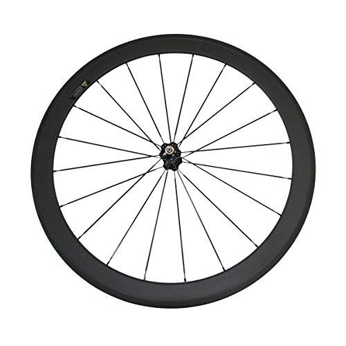 Clincher Front Wheel - LOLTRA 50mm Clincher Front Wheel Only Rear Wheel 700C Full Carbon Road Bike Wheels (rear wheel)