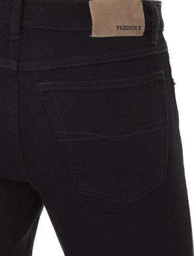 Paddock`s Herren Jeans Ranger - Slim Fit - Schwarz - Black/Black, Größe:W 46 L 32;Farbe:Black/Black (6001)