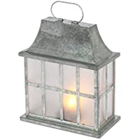 Everlasting Glow 44223 11.5 Silver FireGlow Lantern Christmas, 8.75InL x 4.4InW x 11.5InH