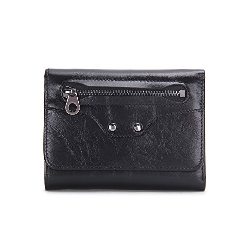 DARUNs Genuine Leather Men Card Holder Card Case Mini Thin Coin Wallet Coin Pouch