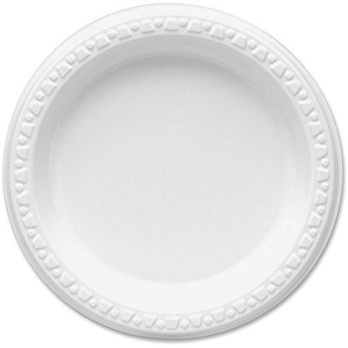 Tablemate Plastic Dinnerware, Plates, 6 inch dia, White, 125/Pack (Dinnerware Plastic Tablemate)