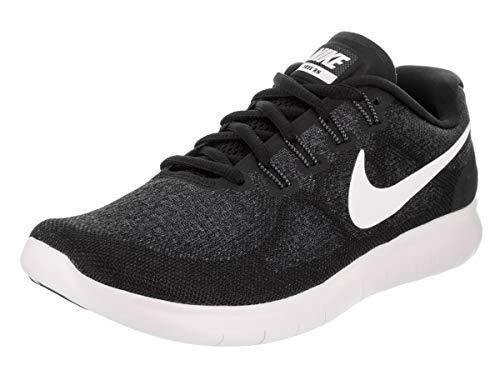 (NIKE Women's Free RN 2017 Running Shoe Black/White/Dark Grey/Anthracite Size 8 M US)