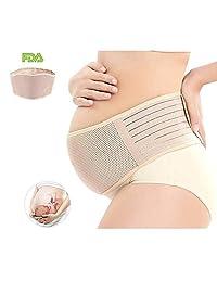cinturón de maternidad Faja de Embarazo Charlemain Cinturón de soporte para el embarazo, Protección de apoyo para la espalda - Banda para el vientre transpirable que proporciona alivio del dolor de cadera, pelvis, lumbar y espalda