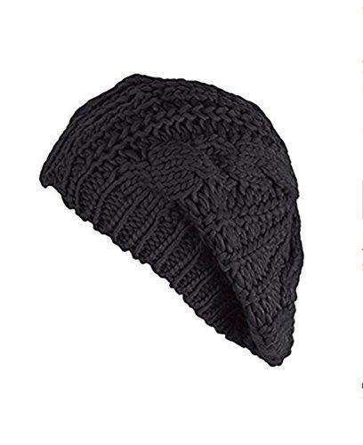 Black Crochet Beanie - 5