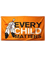"""Every Child Matters Orange Shirt Day Indoor Outdoor Large Wall Flag (35"""" x 61"""") Fits Most Flagpoles"""