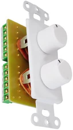 SOUND AROUND-PYLE INDUSTRIES PVCD15 In-Wall Two Speaker Dual Knob Independent Volume Control