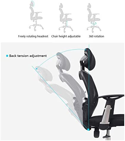 Farbe : Schwarz LLZK Computerstuhl,Gaming-Stuhl Haushalt Schreibtischstuhl Hebedrehstuhl Liegestuhl,B/ürost/ühle mit Armlehnen und R/ückenlehne,Tragf/ähigkeit 200kg
