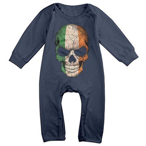 Baby Girls Boys Irish Flag Skull Long Sleeve Climb Clothes 24 Months Navy (Party City Official Website)