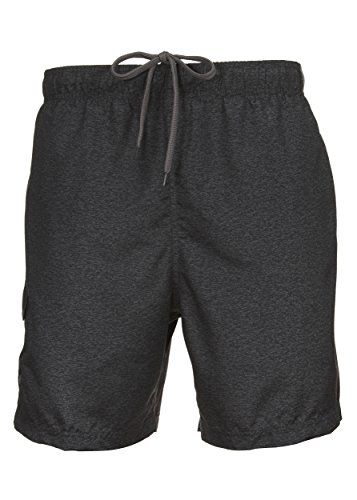 LAGUNA Mens Relaxed Fit Sand Piper Solid Color Block Boardshorts Swim Trunks Charcoal -