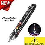 Exteren Dual Voltage Tester, Non Contact AC Voltage Detector, Sensitivity Adjustable Electrical Tools Pen Type Circuit Testers Auto Power-Off Sound AC 12-1000V Test Pencil