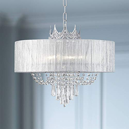 Hallie 21 Wide Draped Crown Crystal 6-Light Chandelier