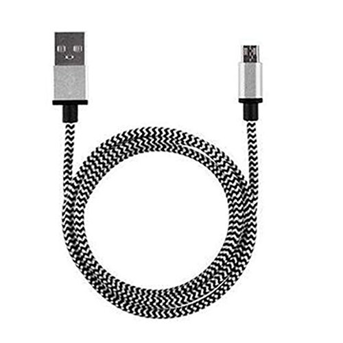 Dirance Micro USB Cable, 1M Braided Aluminum High Speed 2.0 A Male to Micro B Data Sync And Charging Cable for Samsung Galaxy S7, Note 5, HTC, Motorola, Sony and More Android Phones (Silver) by Dirance (Image #2)