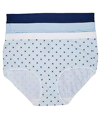 (Hanes Ultimate X-Temp Comfort Brief 3-Pack, 8, Blue Assorted)