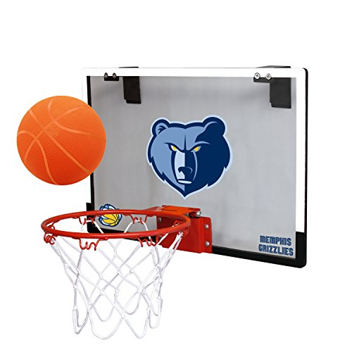 fan products of NBA Memphis Grizzlies Game On Indoor Basketball Hoop & Ball Set, Regular, Blue