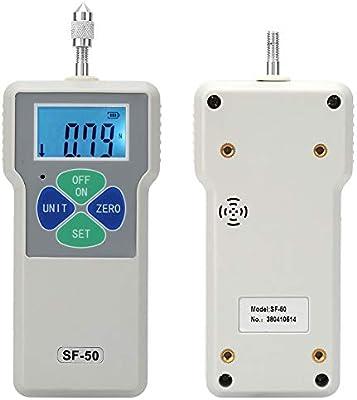11lbs Instruments de Mesure de Tension Testeur Pouss/ée et de Traction de Pression Compteur LCD /à 4 chiffres 100-240V Dynamom/ètres SF-50 Jauge de Force Num/érique 50N 5kg EU Plug