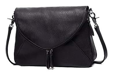 AMELIE GALANTI Medium Crossbody Bags for Women Purses Zipper Shoulder Bags