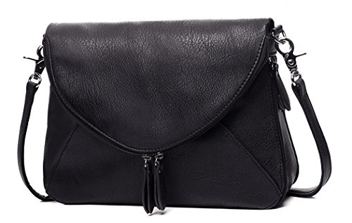 Medium Crossbody Bags Zipper Shoulder Bags Satchel for Women Tote Bag by AMELIE GALANTI