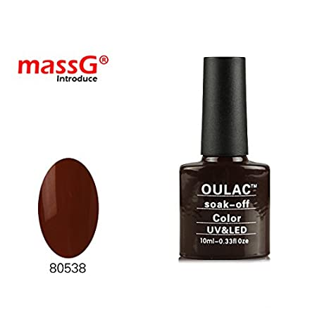 10ml OULAC Nail Gel Shine Gloss Matte Polish Varnish Remover Cleanser Wipes UV Light Required Fast Dry - Burnt Romance