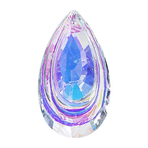 H&D Colorful Suncatcher Crystal Hanging Prism Chandelier Waterdrop 63mm ()