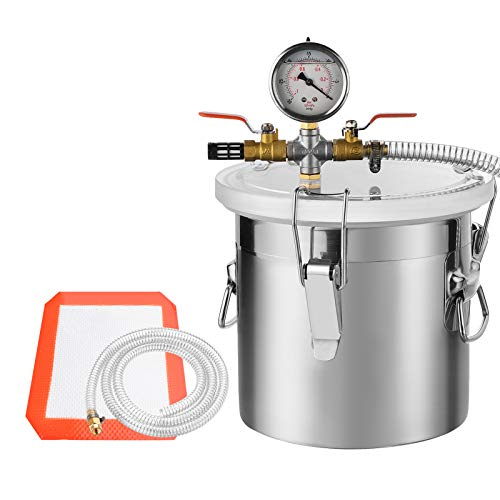 (SUNCOO 2 Gallon Stainless Steel Vacuum Chamber for Degassing Urethanes, Resins, Silicones and Epoxies)