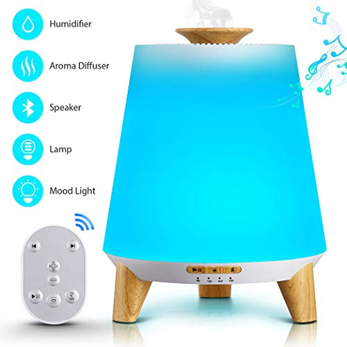 Flysight Bluetooth Speaker Essential Oil Diffuser Humidifier 300mL,2019 Upgrade Cool Mist Music Aromatherapy Humidifier for Babies Kids,Ultrasonic Aroma Diffuser Portable for Home Bedroom Office (Best Oil Diffuser 2019)