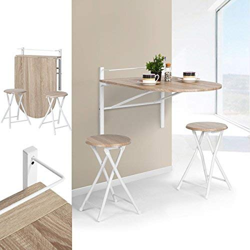 Innovareds Mesa de madera abatible de pared plegable Mesa de comedor ...