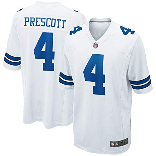 Dallas Cowboys Men's 4 Dak Prescott White Game Jersey XXL