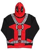 Marvel Deadpool Suit Up Full Mask Mens Hoodie (Large)