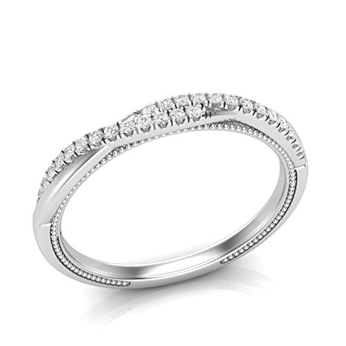 Infinity Wedding Band.Amazon Com White Gold Twisted Band Infinity Wedding Band