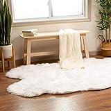 Super Area Rugs Silky Shag Rug Faux Fur Sheepskin