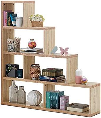 Tangkula Estantería de escalera de 6 cubos, estantería de esquina independiente, estantería de almacenamiento para libros en casa, muebles, armarios, gabinetes, 4 capas, amplio espacio de almacenamiento y buena clasificación: Amazon.es: Juguetes