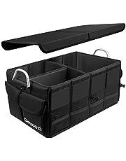 Deyooxi Torby organizacyjne do bagażnika samochodowego, składane przechowywanie, wytrzymałe i trwałe pudełko do przechowywania uporządkowanej organizacji samochodu i konserwacji bagażnika