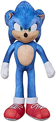 Amazon Com Sonic The Hedgehog 13 Inch Talking Sonic Plush With 10